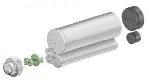 Sulzer F system 200ml 4:1 ratio cartridge