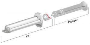 Sulzer 10ml K System industrial syringe 10 to 1 ratio