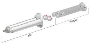 Sulzer 10ml K System industrial syringe 1 to 1 ratio