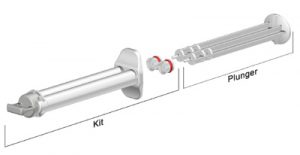 Sulzer 2.5ml K System industrial syringe 1 to 1 ratio