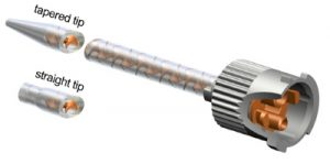 Sulzer Helical static mixing nozzles for 10 to 1 K series syringes