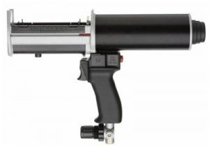 Pneumatic 200ml cartridge dispensing gun.